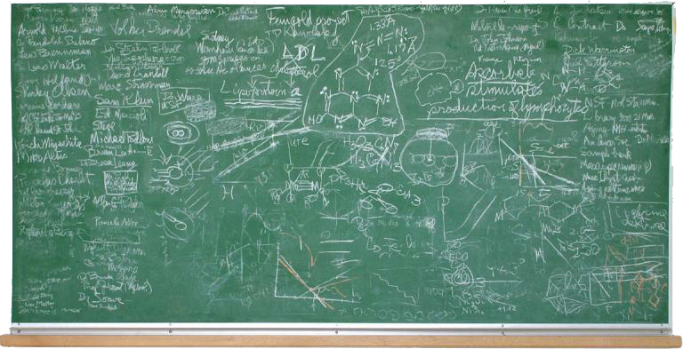 blackboard image with writing